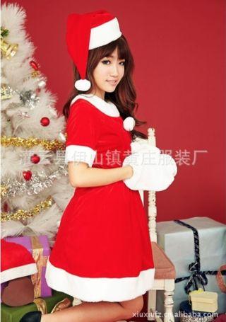 キュートなクリスマス サンタ コスチューム  フリーサイズ