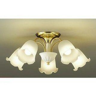 シャンデリア 5灯 LED ゴールド 天井照明 照明器具