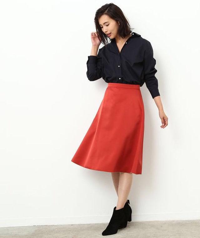 定価16,200円ROPEリバーシブルフレアスカート