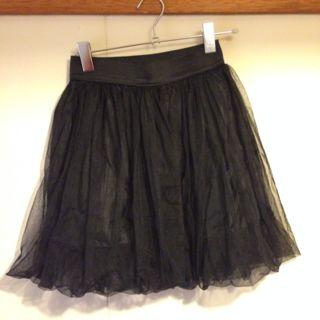 SPINS / 黒 / シフォンスカート