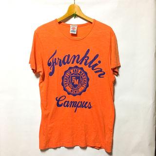 フランクリン&マーシャル ロゴプリント Tシャツ オレンジ