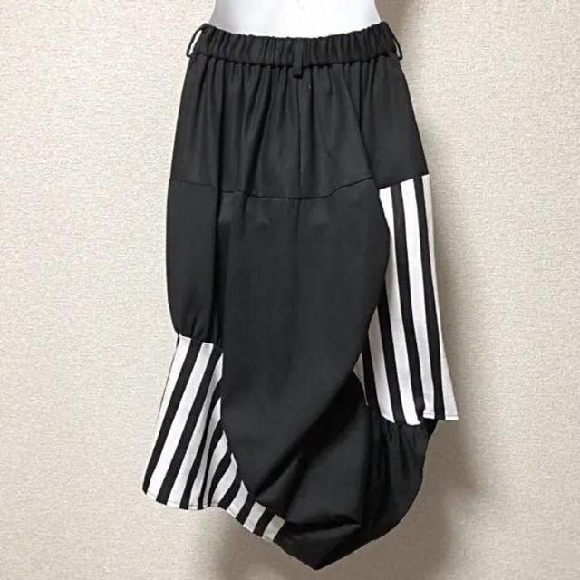 【新品/Drug honey】ストライプ柄切替変形スカート