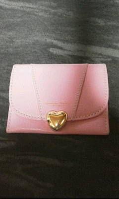 サマンサタバサピンク革製カードケース