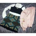 H&M刺繍フリンジスカート