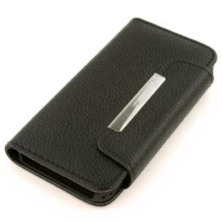 iPhone5/5S レザー調 手帳タイプ 保護カバーケース