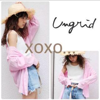 新品 Ungrid ソフトカラーシャツ