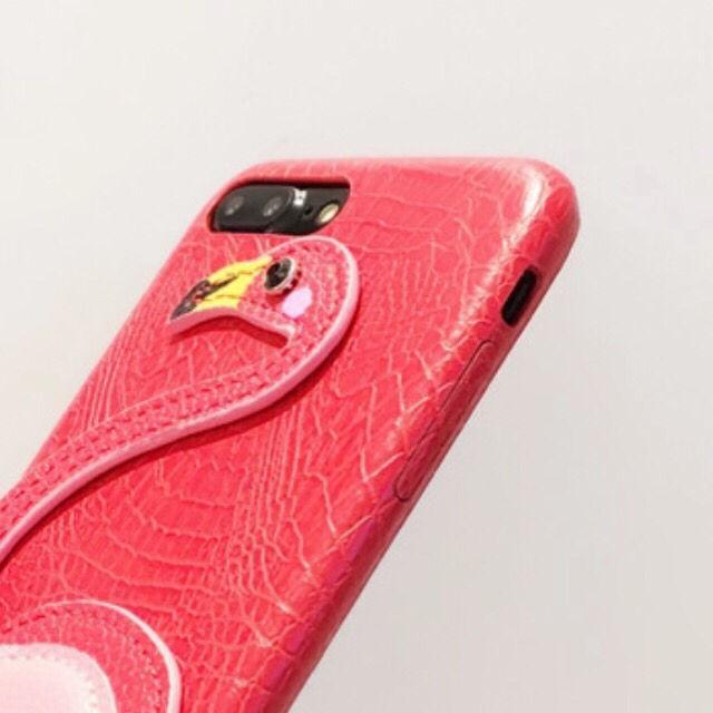 【iPhone 6 7 plus】フラミンゴ 足つき