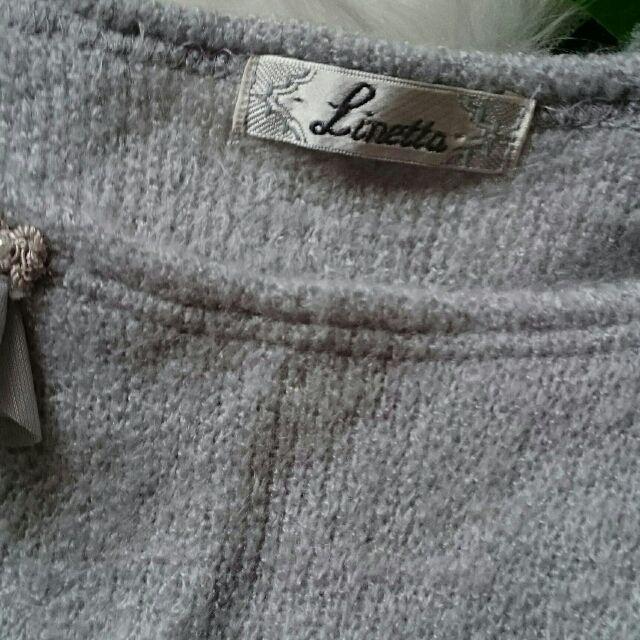 美品!rinetta飾り×異素材使いニット×セーター
