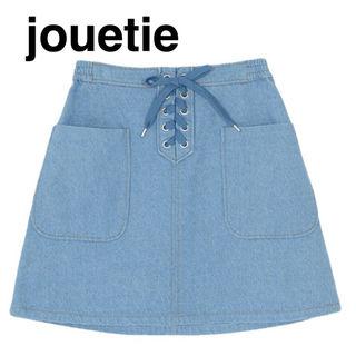 jouetie フロントレースアップスカート