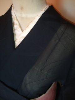 黒◆透カシリーフ*色無地正絹絽157未使用レタR