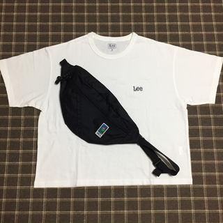 Lee ロゴTシャツ/白