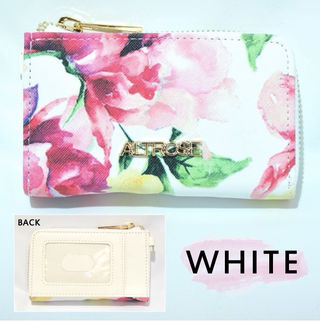 アルトローズ コインケース 花柄 ホワイト