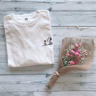 新品 スヌーピー 刺繍 トレーナー 韓国