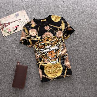 Edhardy Tシャツ 刺繍 ファッション メンズ