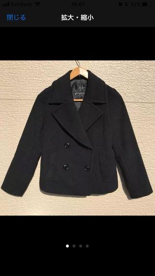 m's select コート 黒 ブラック 34