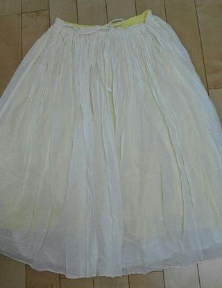 スタディオクリップのリバーシブルギャザーロングスカート