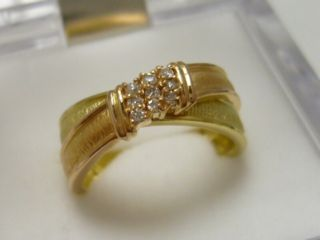 K18イエローピンクゴールド ダイヤモンドリング 9号