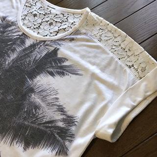 レイ・カズン  レース &  やしの木 Tシャツ