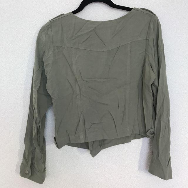 mysty womanノーカラージャケット