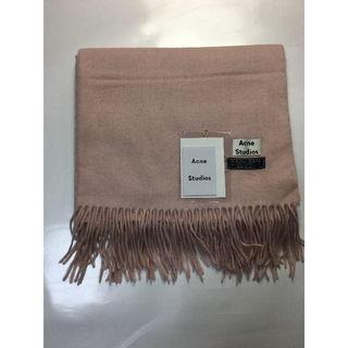 スカーフ マフラー マフラーピン付き ピンク