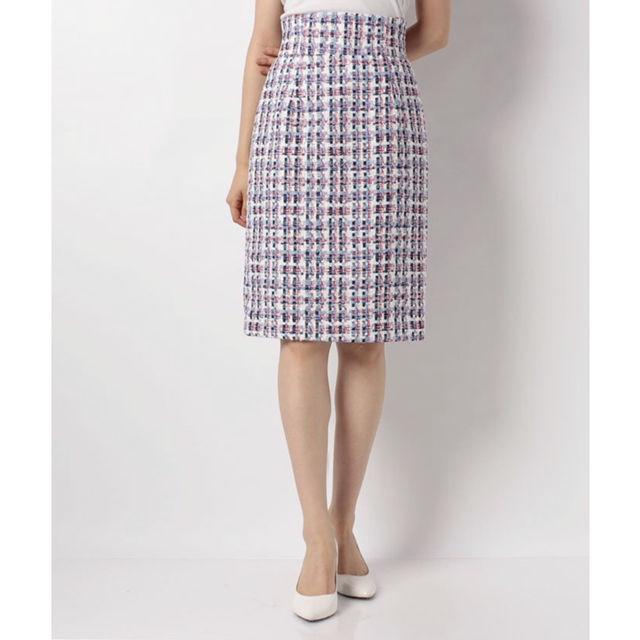 *【新品タグ付き】アプトリコロールツイードタイトスカート*