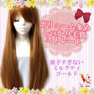 前髪長めでしっかりした毛質ロングストレートフルウィッグ01