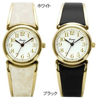 J-AXIS べっ甲風バングル腕時計