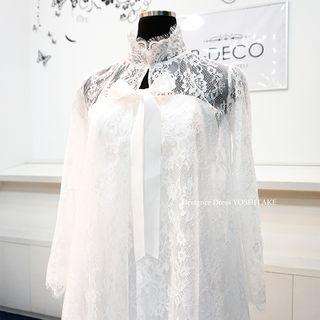 ウエディングドレス 2wayミスドレス&ロングボレロ