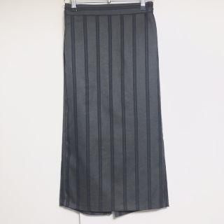 GU ストライプ ナローミディスカート