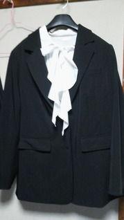 ブラックフォーマル パンツスーツ&ブラウスセット(26号)