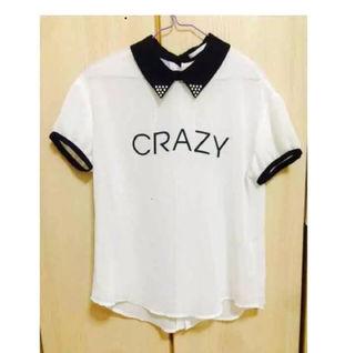 CRAZY ロゴ シースルー Tシャツ