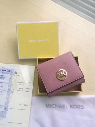 MK 人気美品 可愛い美品 男女兼用 2つ折短財布