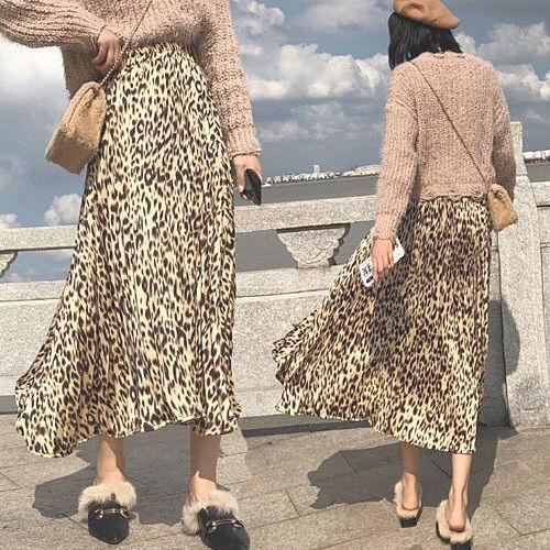レオパード プリーツスカート ベージュ ロングスカート - フリマアプリ&サイトShoppies[ショッピーズ]
