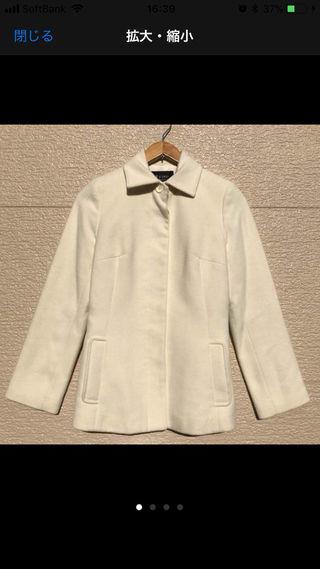 M-PREMIER エムプルミエ コート 36 白 アンゴラ