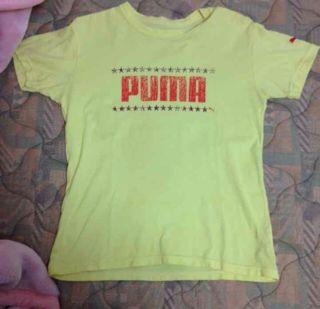 pumaロゴTシャツ