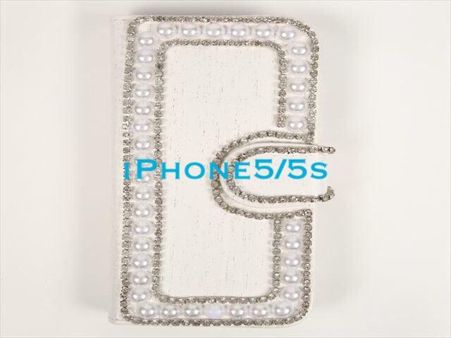 ハンドメイドiPhone5/5s ケース ホワイト