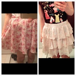 花柄スカート2点