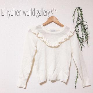 E hyphen world gallery フリルニット