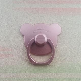 セール中♪ クマ型 スマホリング ローズピンク