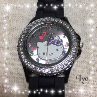 キティちゃんの可愛い腕時計ラバーベルトタイプ
