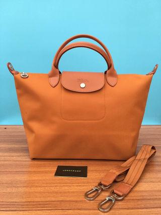 Longchamp ネオ ハンドバッグ オレンジ M