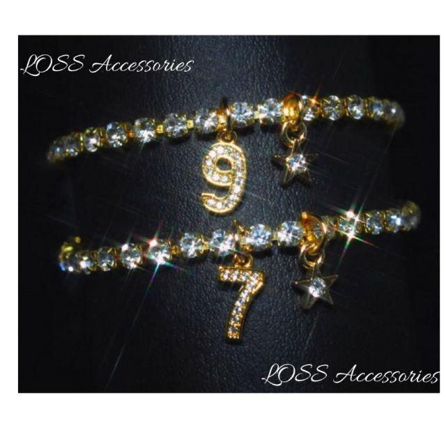 【高級】金色ナンバーアンクレット ネックレス リング d21 - フリマアプリ&サイトShoppies[ショッピーズ]