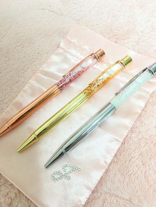 キラキラボールペン3本セット(HECKEL)