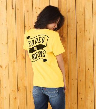 新品 RODEOCROWNS リボンロゴTシャツ