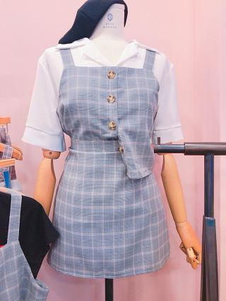 新品 韓国 ビスチェ ミニスカート セットアップ