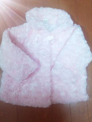 ピンクファージャケットコート/サイズ83/美品