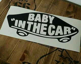 BABY IN THE CARステッカー
