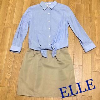 定価9,720円ELLE 2weyシャツワンピース