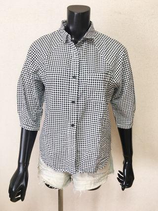 025・SLY七分袖柄シャツ