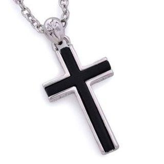十字架ブラッククロスネックレス